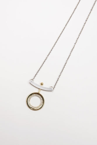 Joularie Necklaces Multi Silver and Gold Glitter Necklace