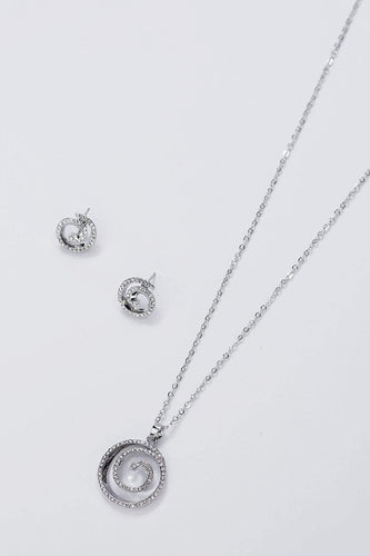 Soul Jewellery Necklaces Silver Silver Circle Necklace & Earring Set