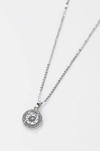 Soul Jewellery Necklaces Silver Diamante Circle Necklace- SOUL Special