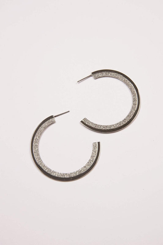 Joularie Earrings Silver Silver Hoop Earrings