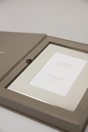"Tipperary Crystal Gift Photo Frames Silver Plain Frame 4"" X 6"""