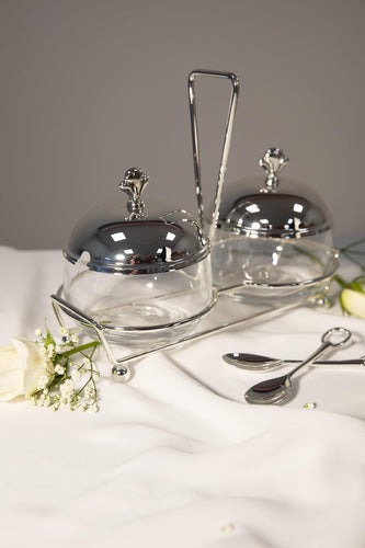 Newbridge Silverware Jam Dish Silver plated Double Jam Dish