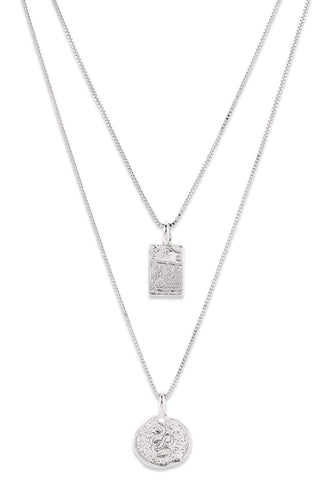 Pilgrim Necklaces Silver Silver Plated Rustic Pendant Necklace