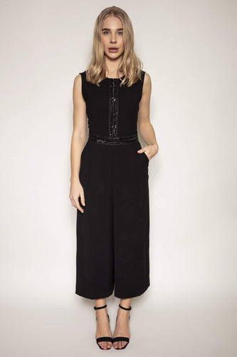 Peruzzi Jumpsuits Sleeveless Jumpsuit in Black
