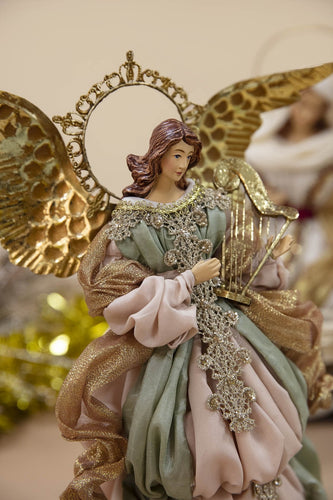 Carraig Donn HOME - Christmas Christmas Nativity Crib Small Decadent Angel