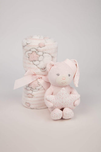 Carraig Donn HOME Blankets Small Pink Teddy and Blanket Gift Set