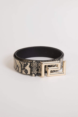 SOUL Accessories Belts Animal Small Snake Print Belt