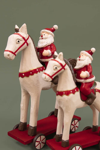 Carraig Donn HOME - Christmas Christmas Decorations Small Wooden Horse