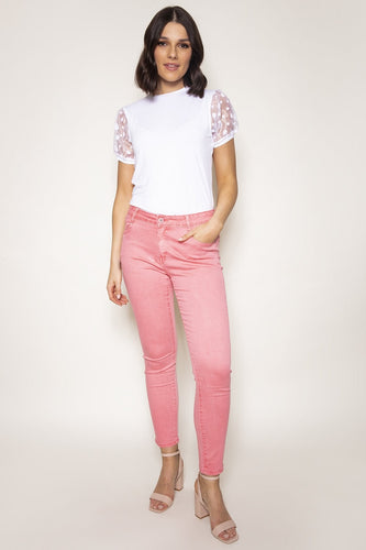 Rowen Avenue Jeans Pink / 10 Soft Touch Denim Jeans in Pink