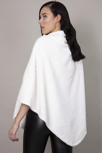 SOUL Accessories Ponchos White / One Soft Touch High Neck Poncho in White