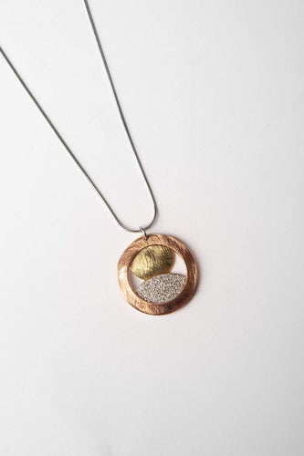 Joularie Necklaces Silver Spherical Necklace in Multi Tones