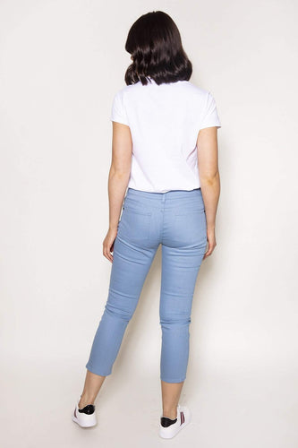 Rowen Avenue Jeans Straight Crop Jeans in Blue