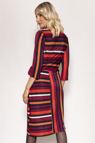 Rowen Avenue Dresses Stripe Dress in Multi Tones