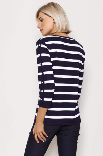 Voulez Vous Jumpers Stripe Knit in Navy