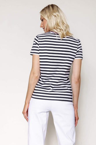 Kelly & Grace Weekend Tops Stripe Tee in Navy