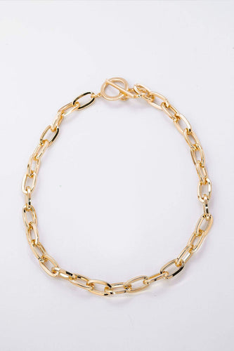 Pala D'oro Jewellery Necklaces Gold T-Bar Necklace in Gold