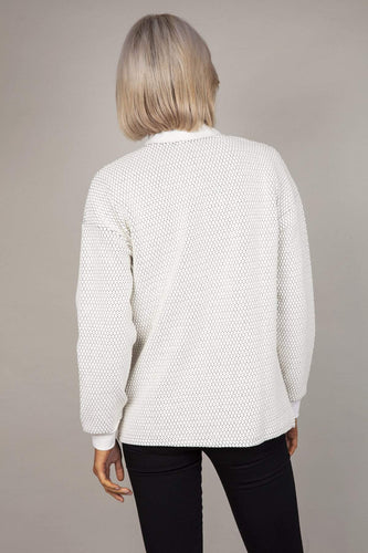 Kelly & Grace Weekend Jackets Textured Jacket in Ivory