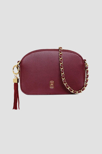 Tipperary Crystal Bags Bags Burgundy The Cannes Shoulder Bag in Burgundy
