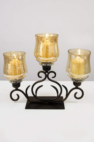 The Grange Candle Holders The Grange Collection Julie 3 Hurricane Candle Holder