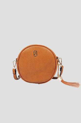 Tipperary Crystal Bags Bags Brown The Harper Round Crossbody Bag in Brown