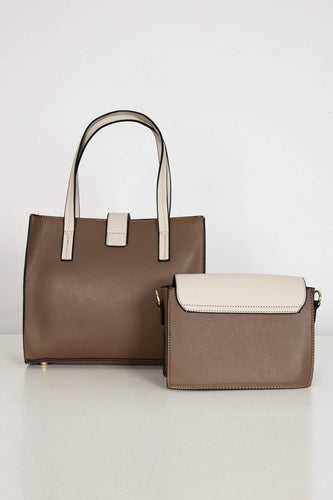 SOUL Accessories Bags Beige The Laura 2 in 1 Bag in Taupe
