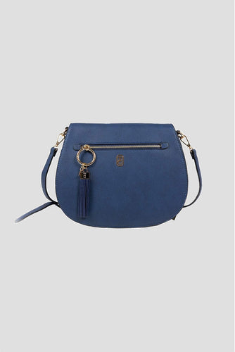 Tipperary Crystal Bags Bags Navy The Savoy Large Satchel Bag in Navy