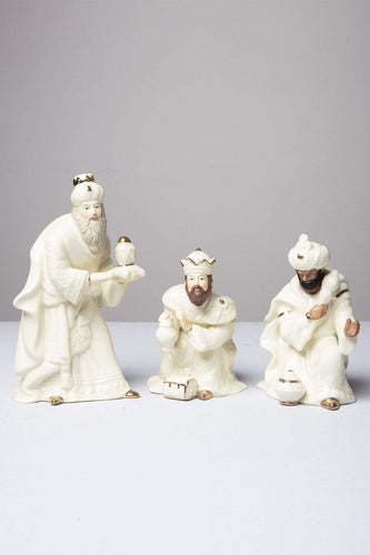 Belleek Christmas Nativity Crib Three Kings Set
