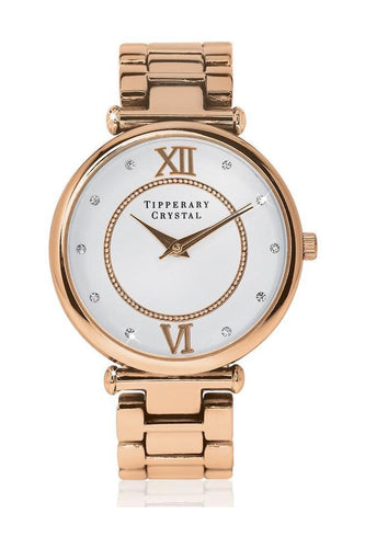 Tipperary Crystal Jewellery Watches Rose Gold Timeless Rose Gold Watch