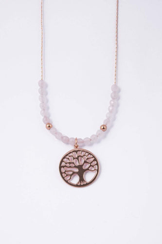 Knight & Day Necklaces Rose Gold Tree of Life Necklace