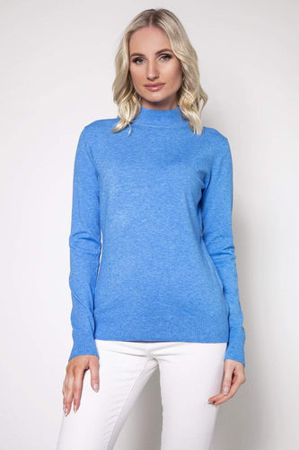 J'aime la Vie Jumpers Blue / One Turtleneck Knit in Blue