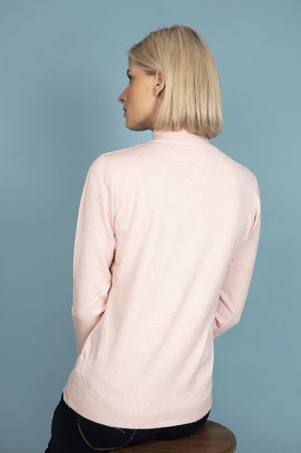 J'aime la Vie Jumpers Pink / One Turtleneck Knit in Light Pink