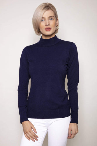 J'aime la Vie Jumpers Navy / One Turtleneck Knit in Navy