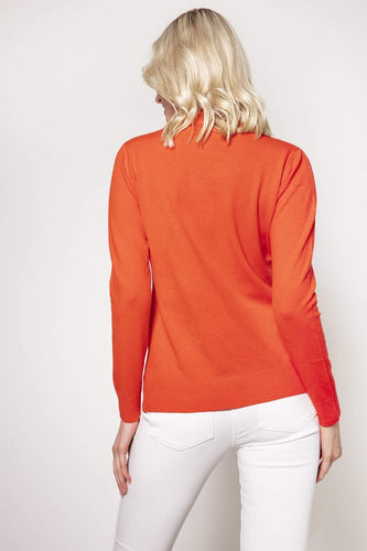 J'aime la Vie Jumpers Orange / One Turtleneck Knit in Orange