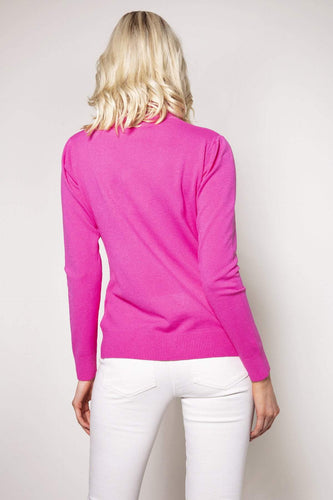 J'aime la Vie Jumpers Pink / One Turtleneck Knit in Pink
