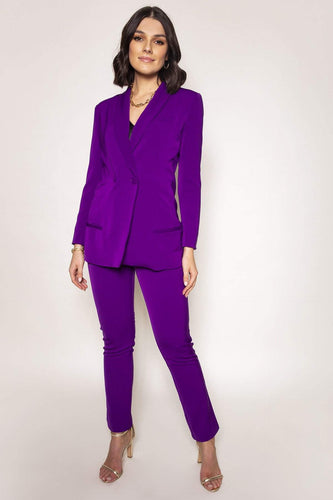 Amor Vitae Suits Purple / 8 Two Piece Suit in Purple