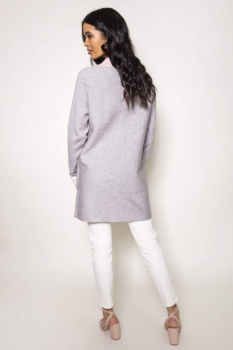 Rino & Pelle Jackets Two Tone Coat in Grey