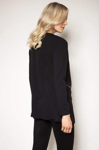 Mela London Jackets Two Zip Cover Up Jacket in Black