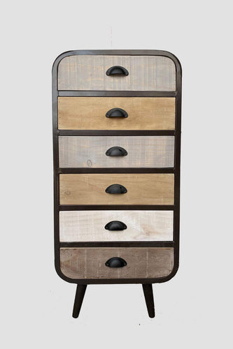 Carraig Donn HOME Drawers Brown Urban Chic Tallboy