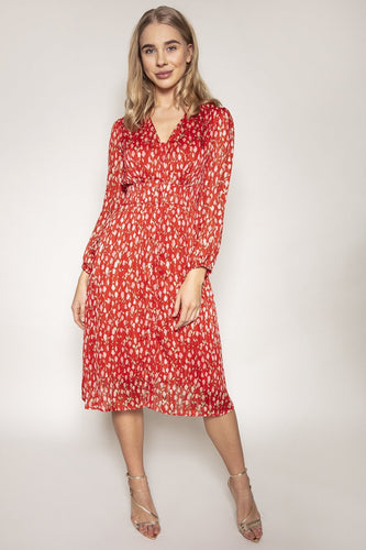 Rowen Avenue Dresses V-Neck Front Dress in Rose Print