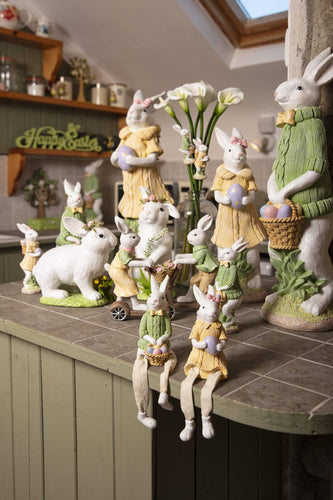 Carraig Donn HOME Easter Ornaments White Bunny Sitting
