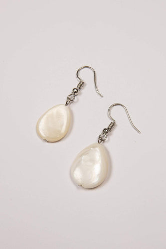 Joularie Earrings Silver White Stone Silver Earrings