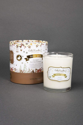 Celtic Candles Candles Winter Spice Round Glass Tumbler