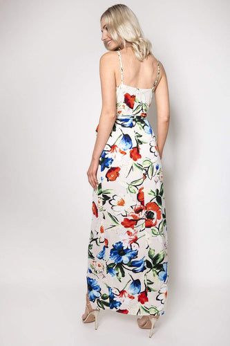 Ada Rowe Dresses Wrap Maxi Dress in Floral Print