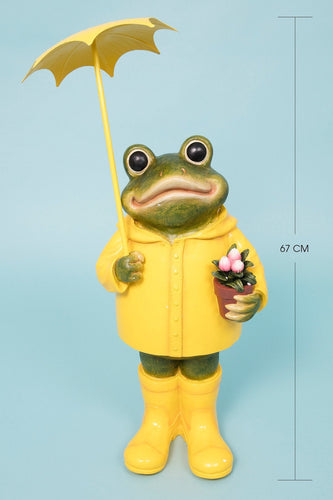 Carraig Donn HOME Ornaments Yellow Frog with Umbrella