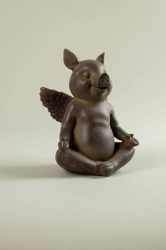 Carraig Donn HOME Ornaments Yoga Pig A Statue