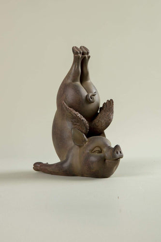Carraig Donn HOME Ornaments Yoga Pig B Statue