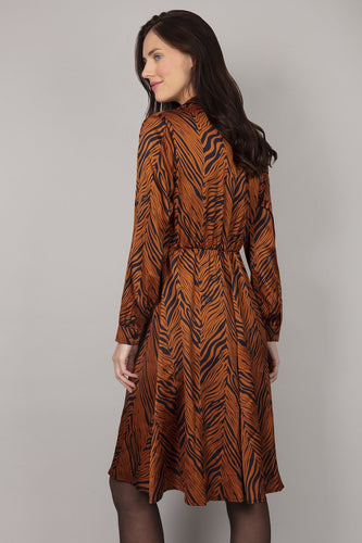 Rowen Avenue Dresses Zebra Shirt Dress