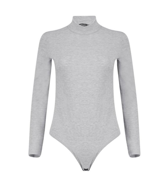 Libby Turtle Neck Long Sleeve Basic Body (gray)