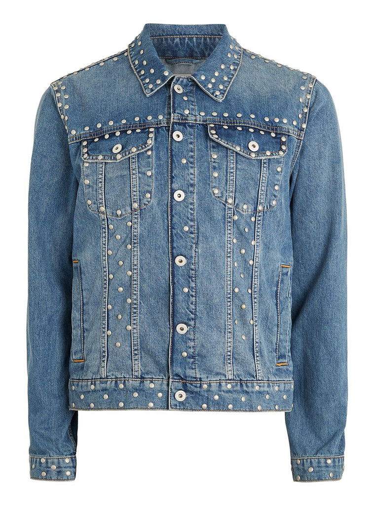 Studded Blue Denim Jacket