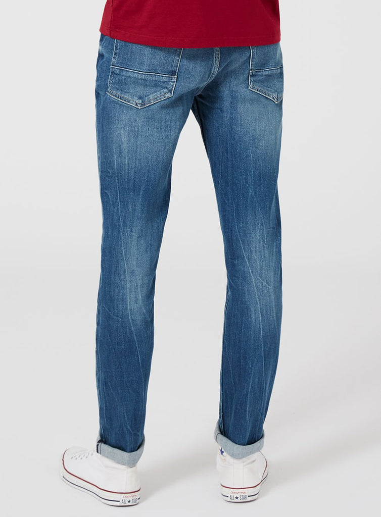 Washed Blue Stretch Slim Jeans